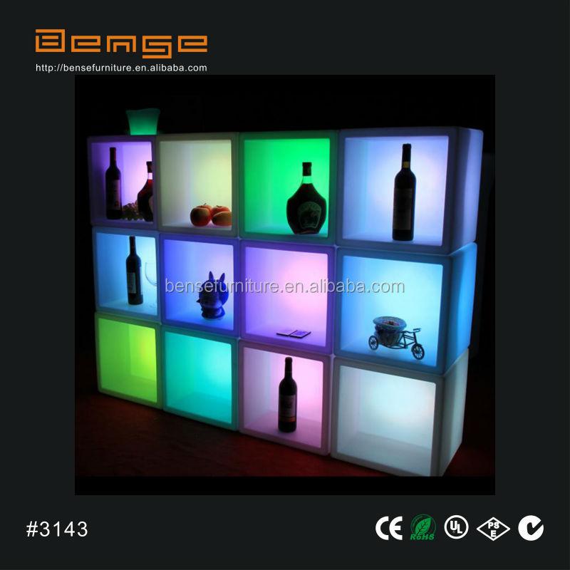 Led boîte à vin affichage LED éclairage étagère pour bar
