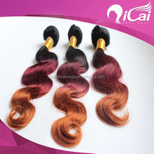 2015 The Fashion Body Wave Three Tone Ombrecolor Hair Weft 100% 7A Indian Hair