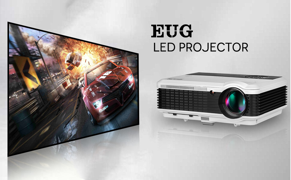 multi-screen wired mirroring miracast airplay 3600Lumens led projector