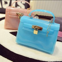 2015 new CANDY JELLY BAG PLASTIC BEACH BAG shining bag