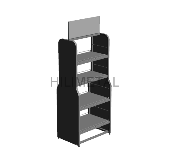 Beverage display rack double sided floor standing stand for supermarket grocery store shelf