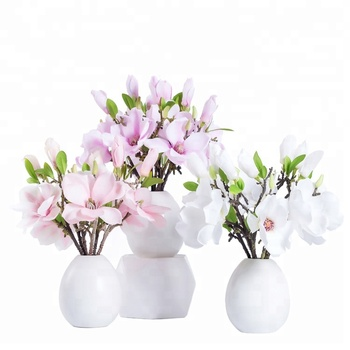 Wholesale Cheap Short Fake Silk Colorful Magnolia Flowers Artificial