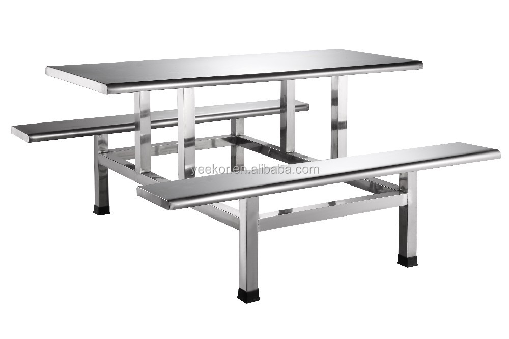 Stainless Steel School Canteen Table And Chair Fast Food