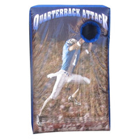 Outdoor Quarterback Attack inflatable football game, Inflatable Football Toss Game for kids