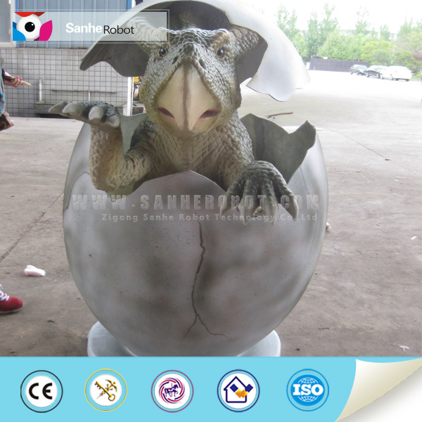 Realistic model Fiberglass waterproof simulation and replica life size cartoon Dinosaur egg for amusement park outdoor egg