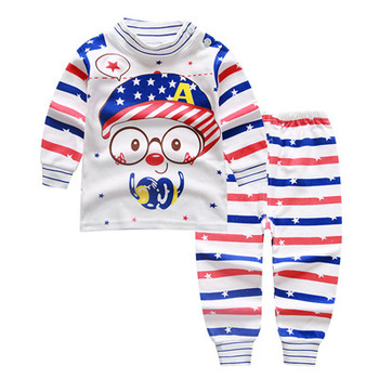 2018 hot sales Autumn Baby Girls Clothing Sets Baby Boy Clothes Suits Long Sleeve Print T-shirt+Pants 2Pcs Newborn