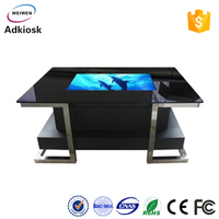 All in one desktop media player for advertising touch screen table tft interactive multi touch ad table lcd