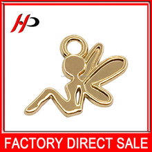wholesale customize decoration shiny gold plating metal cross designs angel wings pendants