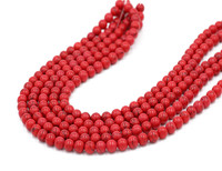 Chinese lucky red beads wholesale natural turquoise beads loose red ruby stone