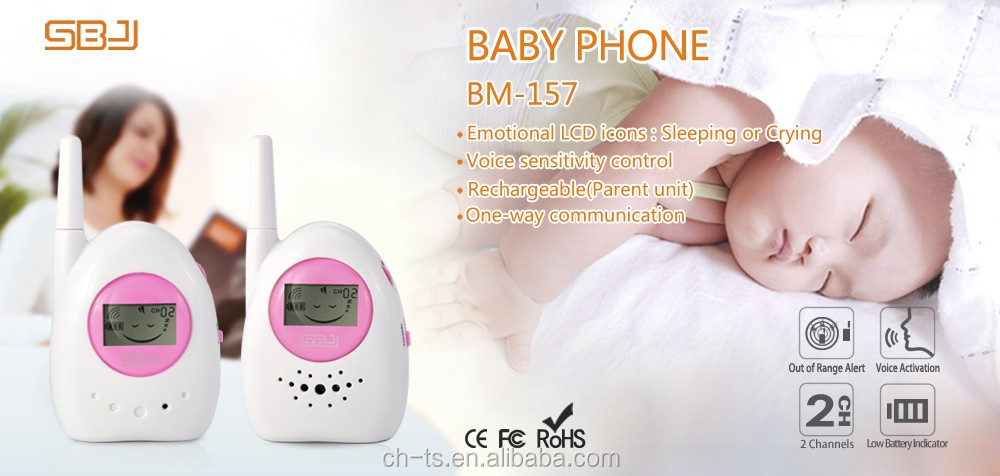 baby talkie walkie phone alarm monitor with VOX long way communication audio monitor