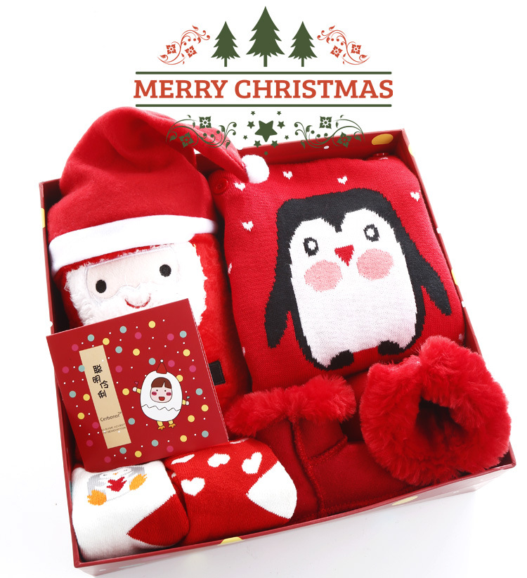 क्रिसमस नवजात बच्चे को कपड़े उपहार सेट