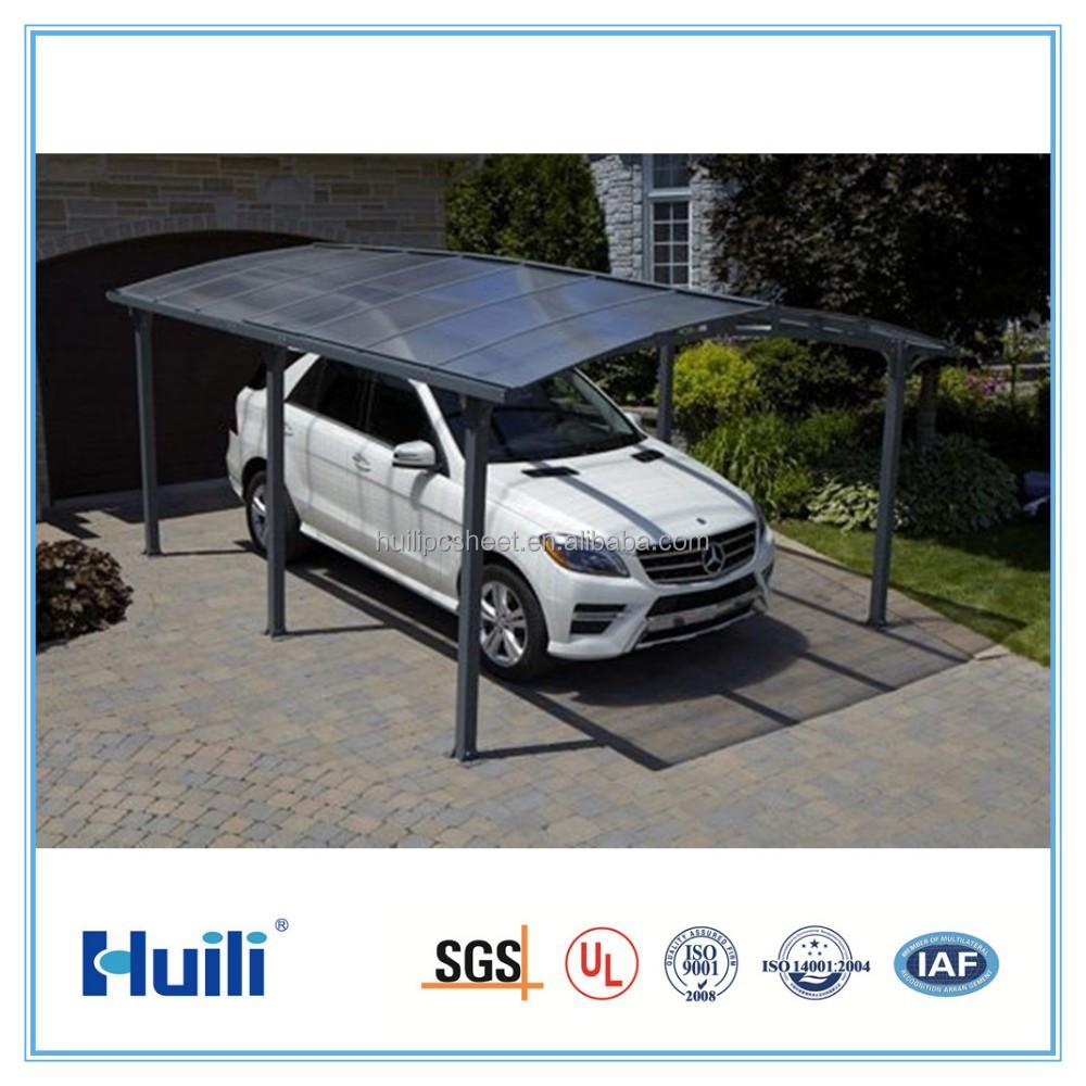 Paneles de aluminio doble cochera cubierta con techo de for Garajes con techos policarbonato