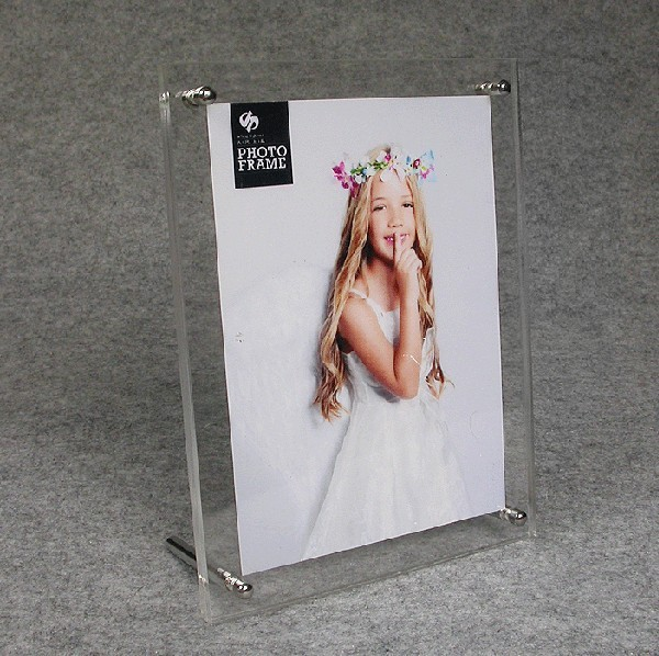 transparent acrylic/plexiglass/ organic glass photo frame picture with screw