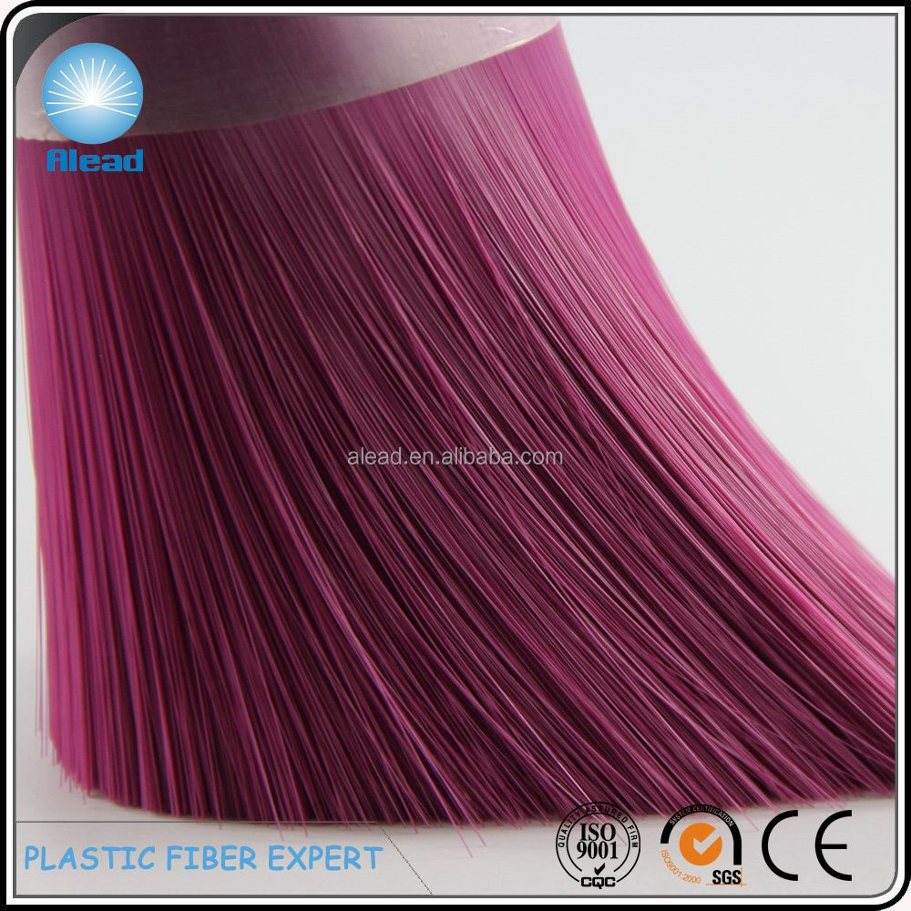 straight solid flaggable PET broom filament