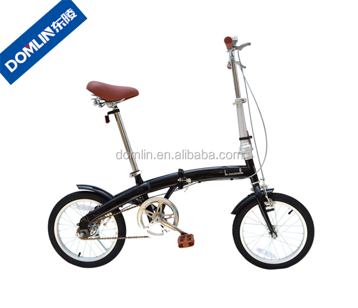 promotion gift hi-ten steel single speed 16 inch folding bike