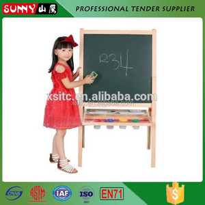 Wholesales children notice chalk green pin board with stand
