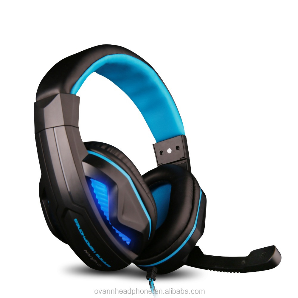 Ovann X2-PRO Over-ear Gaming Headset Stereo Bass Led-Light Headband Headphone With Mic For Pc Game
