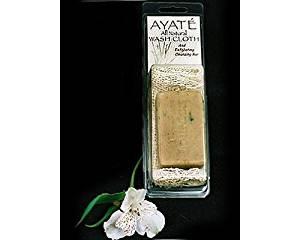 Thai Deodorant Stone Ayate All Natural Wash Cloth with Cleansing Bar by Cutting Edge International, LLC