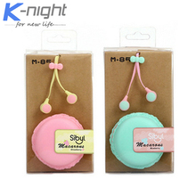 2015 hot M85 macaroon colors noodle earphone with retail box headphone for girls gift
