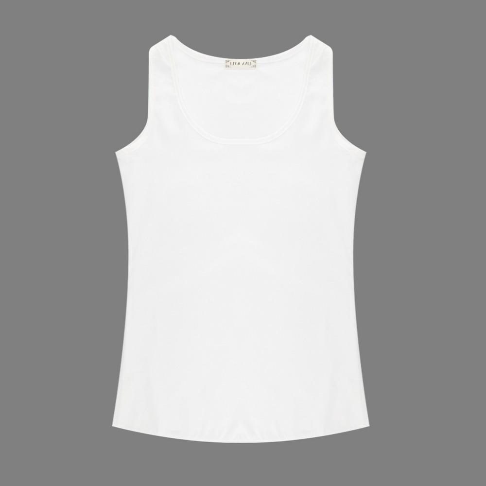Женщины без рукавов шифон рубашки конфеты цвет жилеты танки топы all-матч блузка оптовая продажа