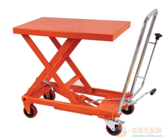 mini manual hydraulic scissor pallet lift platform table