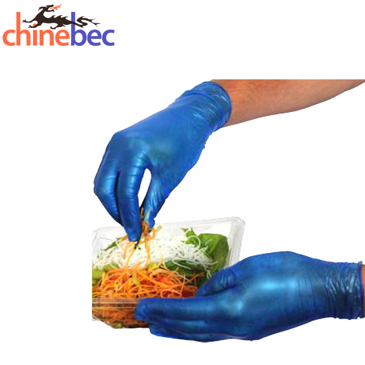 Latest Products Powder Free Blue Disposable PVC Vinyl Gloves For Salon