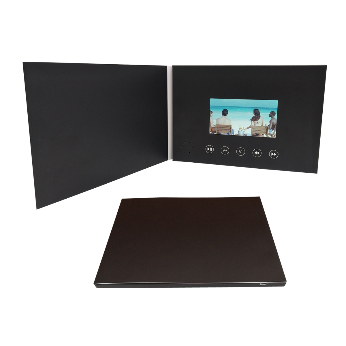 Paper <strong>craft</strong> customized 4.3 inch lcd white card mp4 player video brochure with built-in 128M memory