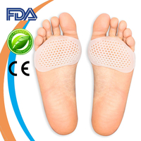 Amazon Hot Selling Silicone Gel Ball of Foot Pain Relief Metatarsal Foot Pads