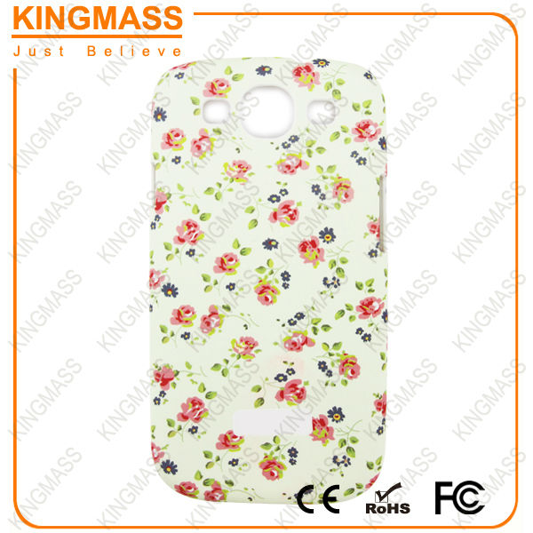 Printed rose cell phone case for samsung s3