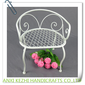 White Wrought Iron Flower Pot Holder Stand Wholesale Holder Stand