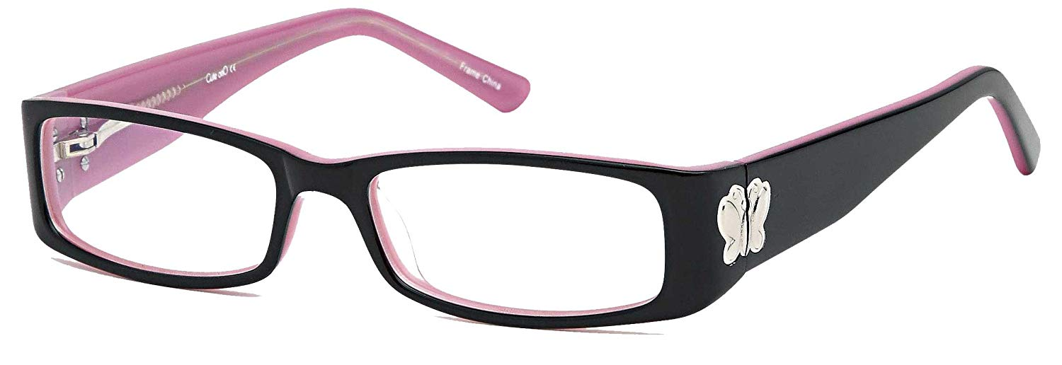 11aa8fb5e750 Get Quotations · Childrens Cute Girls Butterfly Glasses Frames Kids  Prescription Eyeglasses 48-15-125