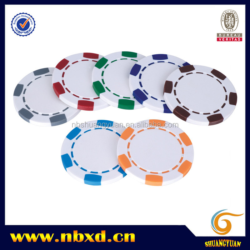 11.5g 6-Spot Blank Poker Chip for Custom Printing