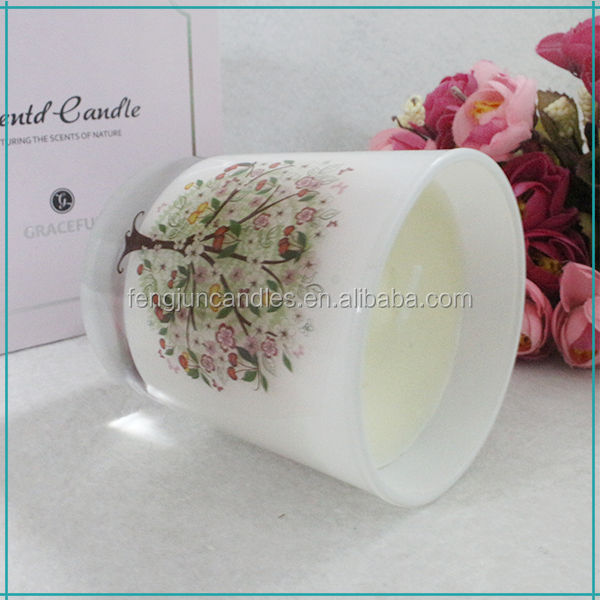 FengJun different sizes luxury scented paraffin candle in glass jar