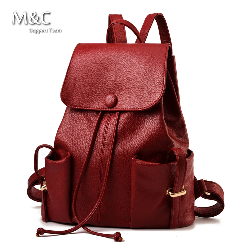 Hot Sale 2015 Backpacks Women Backpack School Bags Students Bookbags Backpack For Women Travel Bags Leather Backpack BD-103