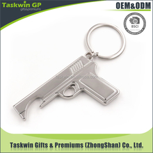 Promotional gun shaped funny metal gifts keychain made in China