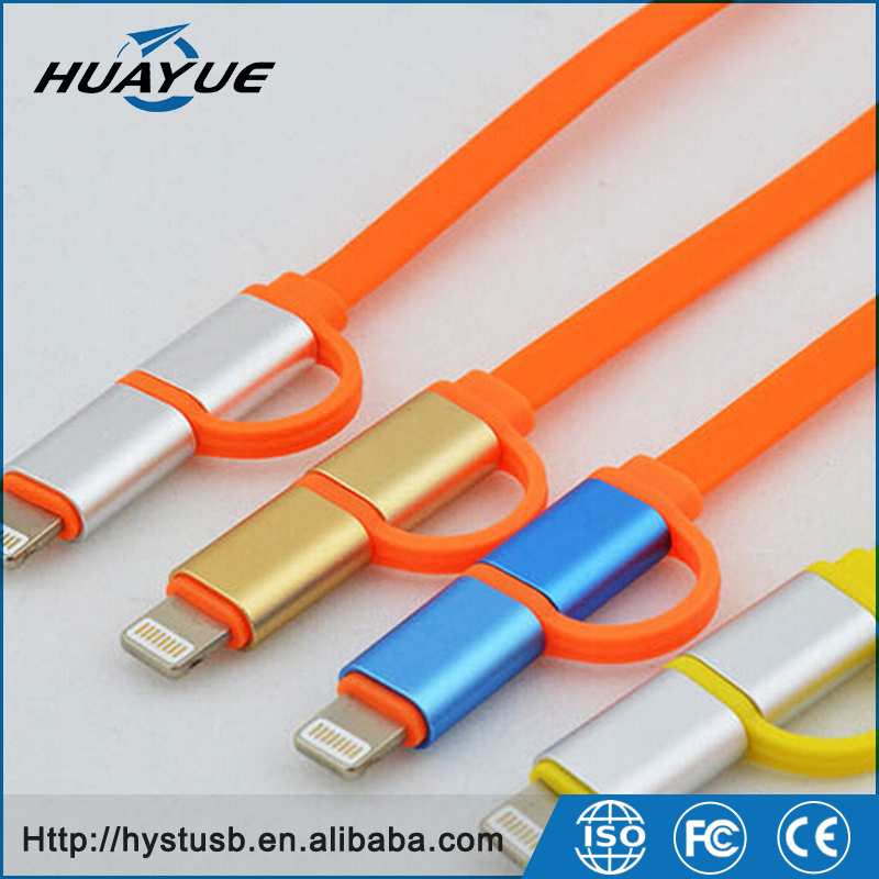 Dual Ports USB Data Cable for Samsung Phone /Iphone /Iphone OTG USB Flash Drives 16GB 32GB 64GB
