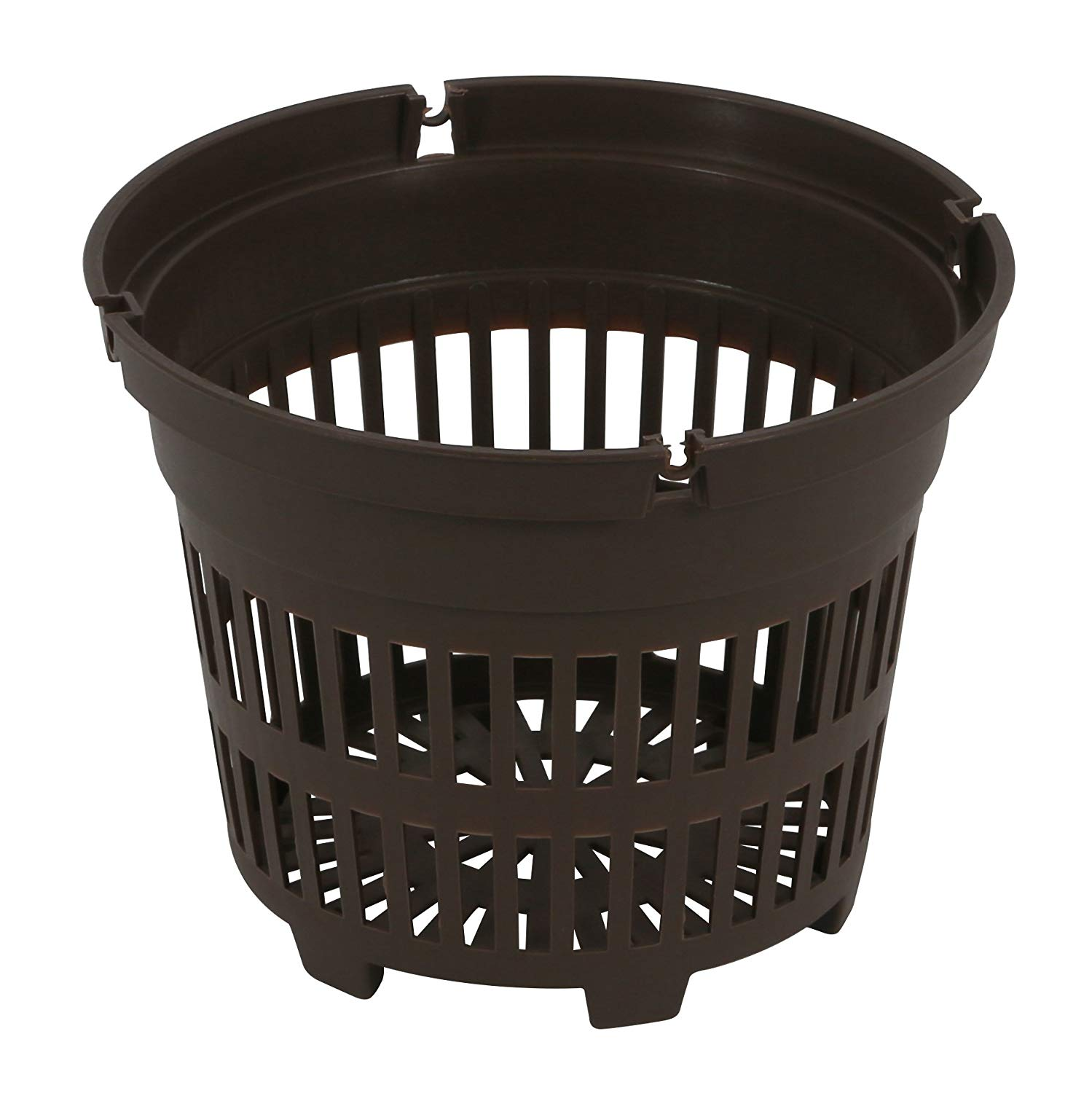 Round Net Pots 6 inch, Brown