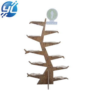 Wooden shoe floor stand display units shelves tree rack at chain store souvenir store balloon tree display stand