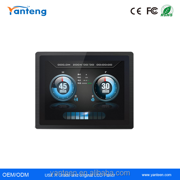 3mm ultra -thin IP65 front panel12.1inch industrial touch screen panel pc with Whole aluminum alloy casing