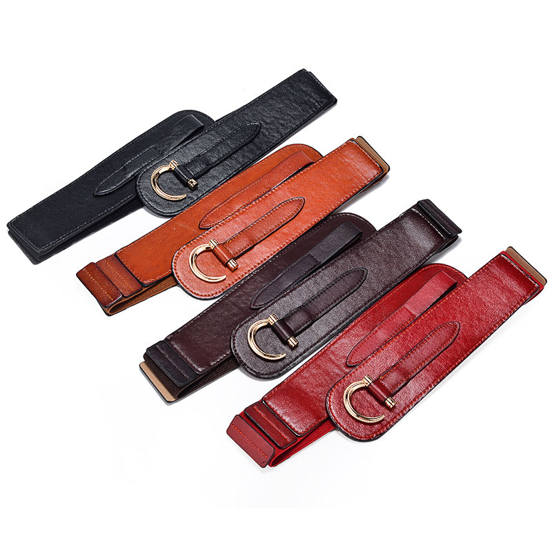 Western popular women's wide fashion elastic belt