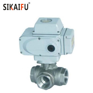 SS304 Thread Three Way Ball Valve with Motorized Actuator for Steam