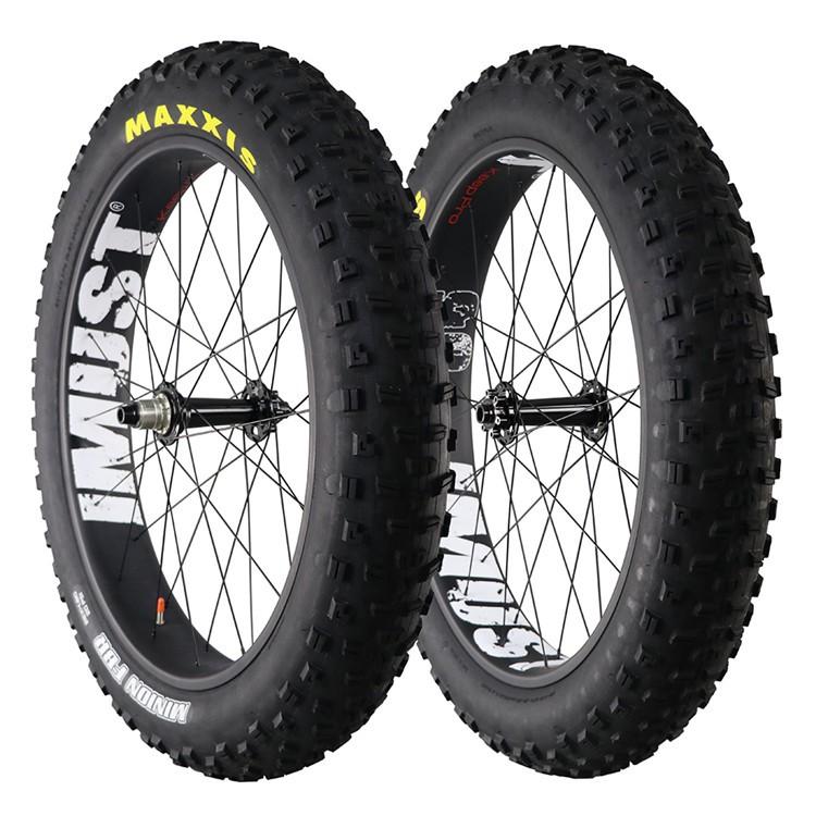 Carbon Fat Bike Wheelset 90mm Clincher Tubeless Ready,26er ...