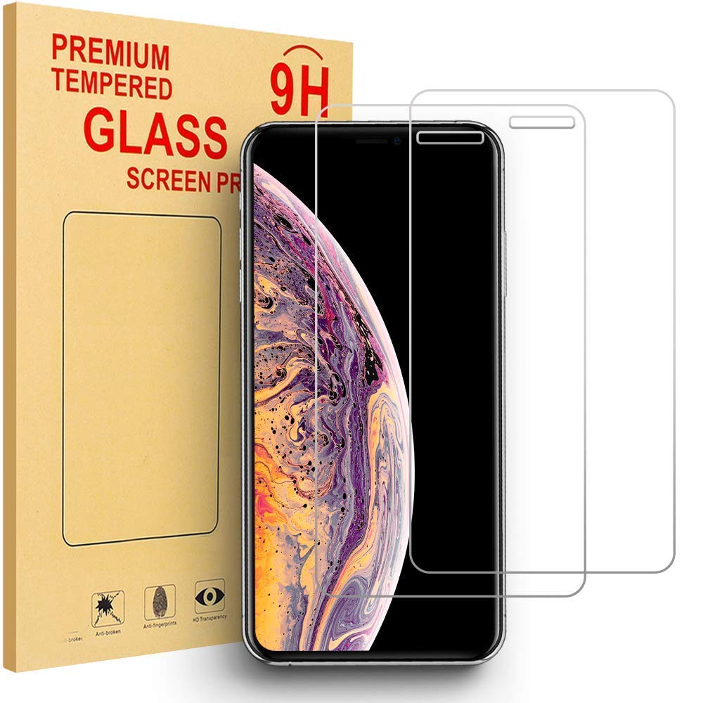 [2 Pack] BMOUO Screen Protector for iPhone Xs Max 6.5 inch, 9H Hardness Tempered Glass Anti-Scratch Bubble-Free Screen Protector for iPhone Xs Max 6.5 inch 2018 Version - HD Clear