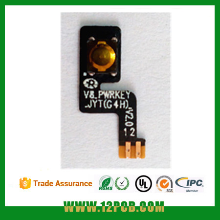 Yunjie PCB, New Original power on/ off flex cable Button cell phone FPC