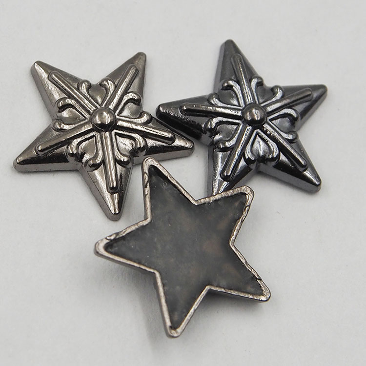 Free Sample Metal Garment Accessories Hot Fix Zinc Alloy Iron on Metal Stud