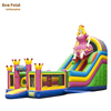Commercial inflatable princess theme double lane slide for kids
