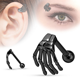 Surgical Stainless Steel Skull Hand Tragus Piercing Human Hand Ear Claw Earring