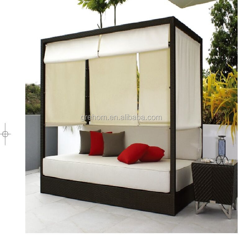 Rattan Bali Sofa Bed Outdoor With Canopy Product On Alibaba