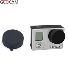 GEEKAM 1pcs Go pro Colorful Silicone lens cap Housing Protective Cover Protecter For Gopro Hero 3+/3/4 Action Camera accessories