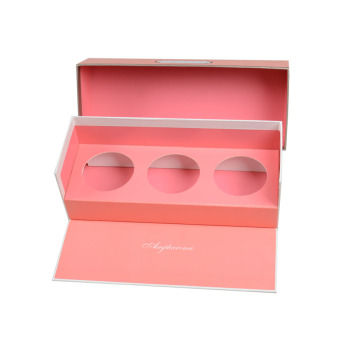 Custom Printed Logo Paper Packing Box Cardboard Storage Bath Bomb Packaging Box with Round Die Cut